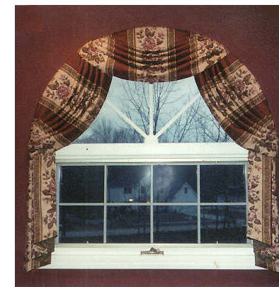 Octagon window treatment idea joy studio design gallery for Window treatment for oval window