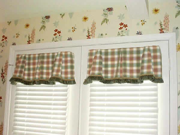 Twin valances on french doors Sew Easy Windows